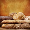 Selection of fresh bread on a stylish background