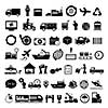 vector logistics export icon set