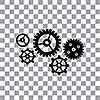 vector gear cog wheel symbol