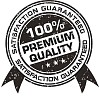 Isolated black and white premium quality label